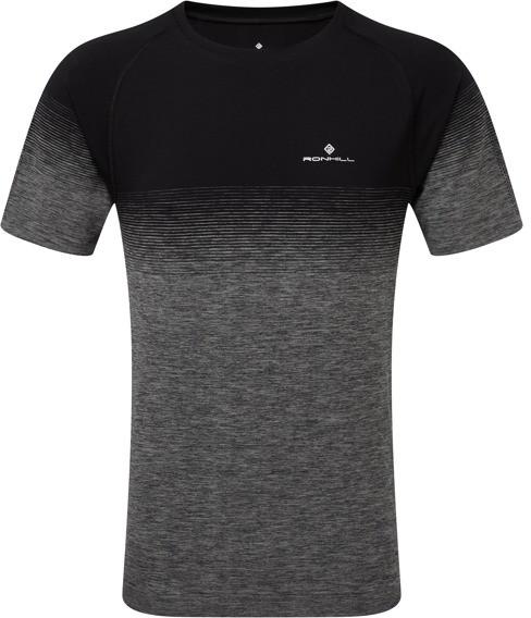 RONHILL RONHILL koszulka biegowa męska INFINITY MARATHON SS TEE szaro-czarna