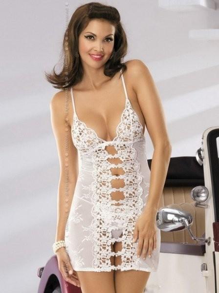 Obsessive Komplet koszulka + stringi) Bride rozmiar L/XL