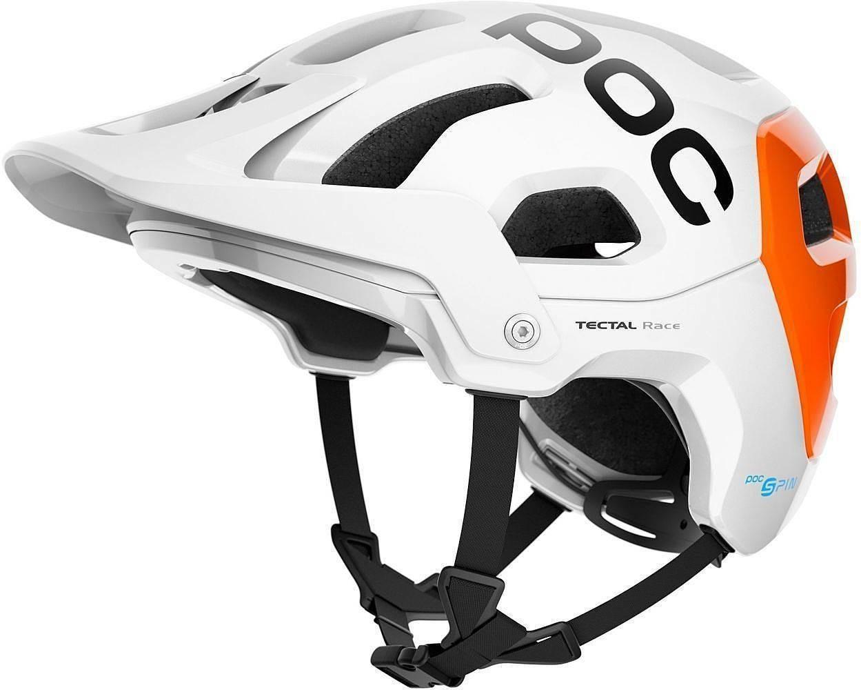 POC Tectal Race SPIN NFC Hydrogen White/Fluorescent Orange AVIP M-L/55-58