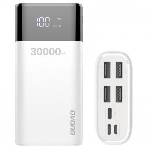 Dudao Powerbank 30000mAh 4xUSB LCD K8Max Biały dudao_20200326100815