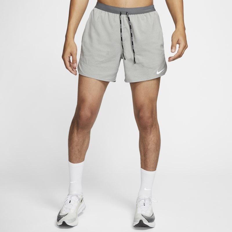 Nike Męskie spodenki z szortami do biegania 13 cm Flex Stride - Szary CJ5453-068