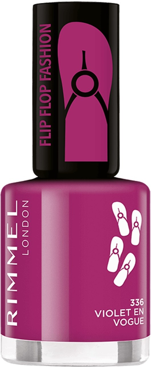 Rimmel Flipflop Fashion 8 ml Lakier do paznokci 336 Violet En Vogue