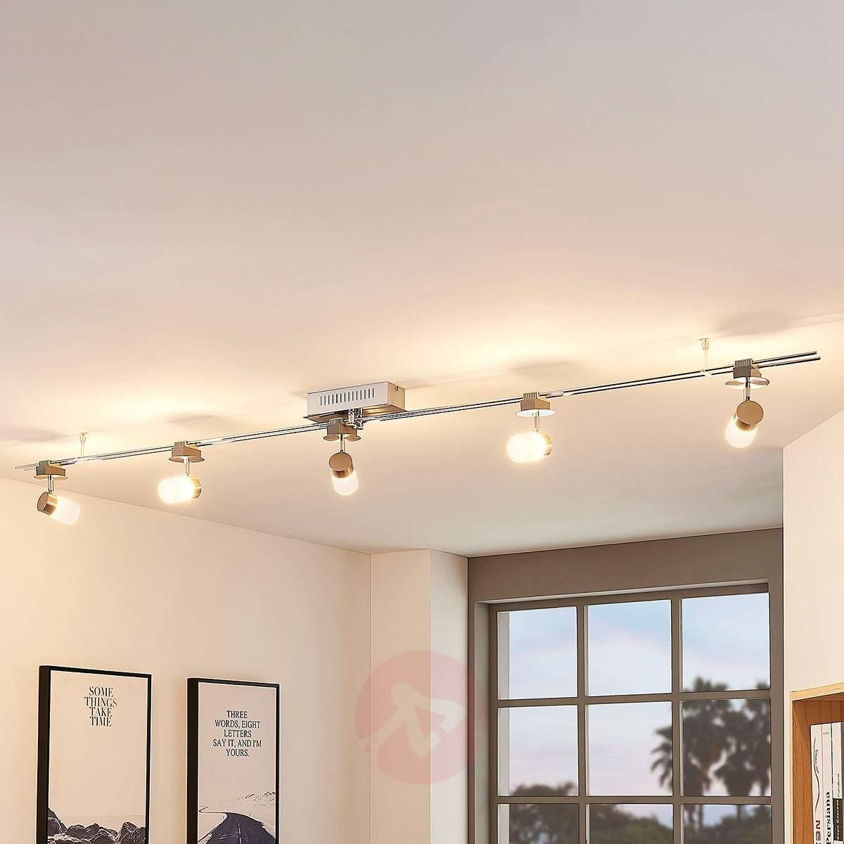 Lampenwelt COM Elora - system szynowy LED, zestaw z 5 kloszami