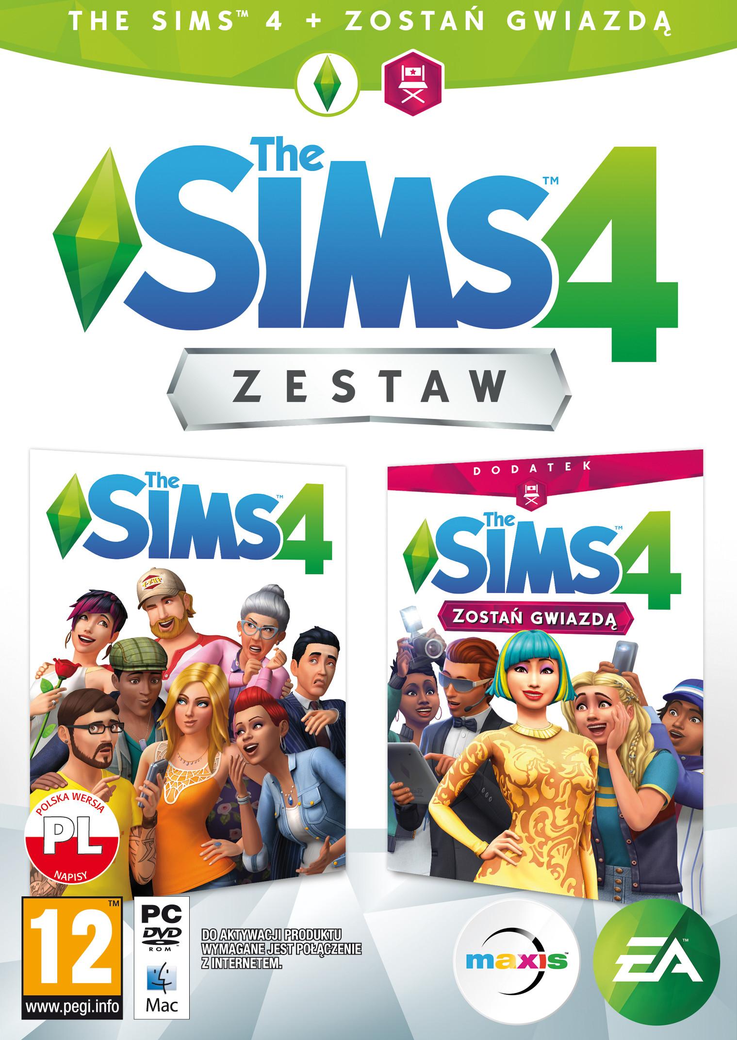 The Sims 4 + Sims 4 Zostań Gwiadą ZESTAW PC