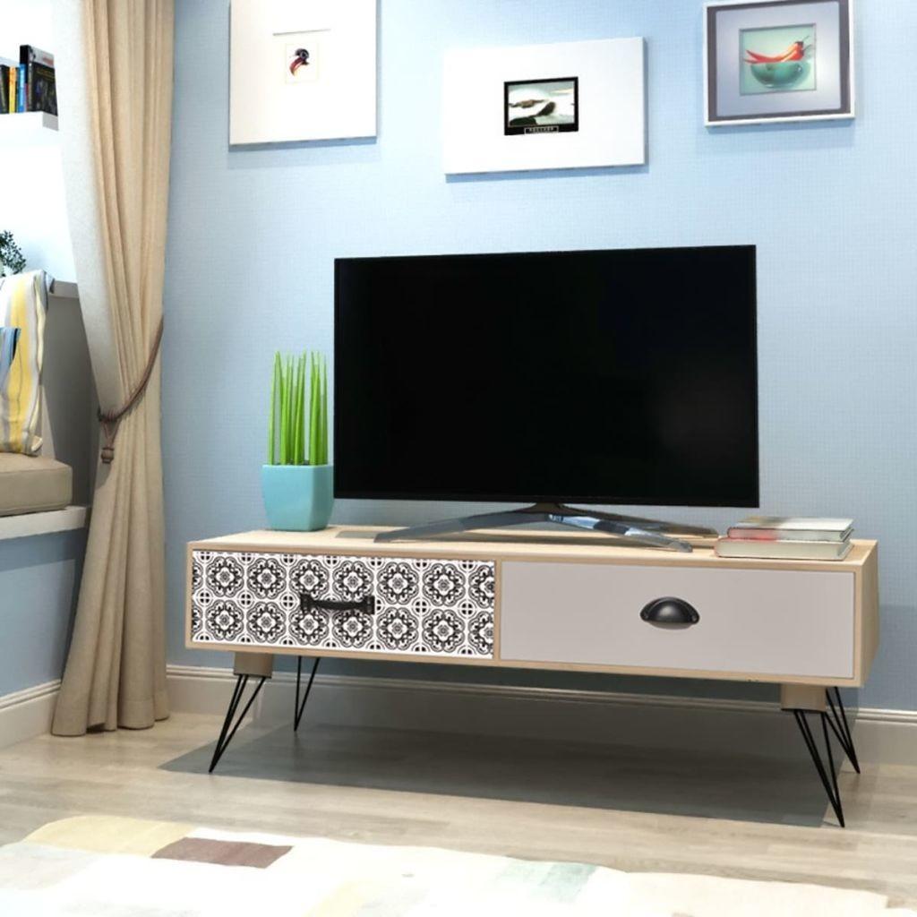vidaXL vidaXL Stolik pod telewizor brązowy 100x40x35 cm