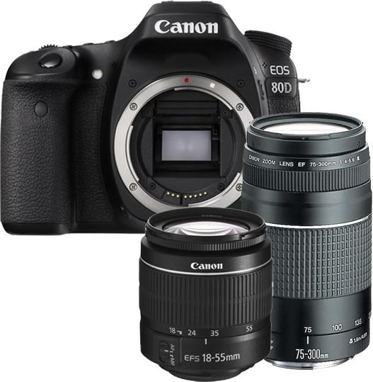 Opinie o Canon EOS 80D + 18-55 DC III + 75-300 DC III
