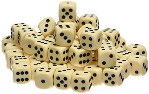 Weible Spiele weible gry 052161akrylowa-kostka w puszce, 16MM, 100sztuk, kość słoniowa