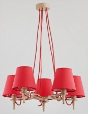 Alfa Łucja Red lampa wisząca 5-punktowa 22275 22275