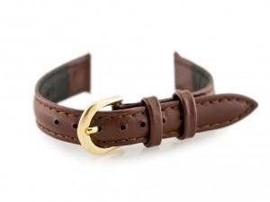 Casio Pasek skórzany do zegarka ciemnobrązowy/złoty I 12mm Brązowy 8821_tay