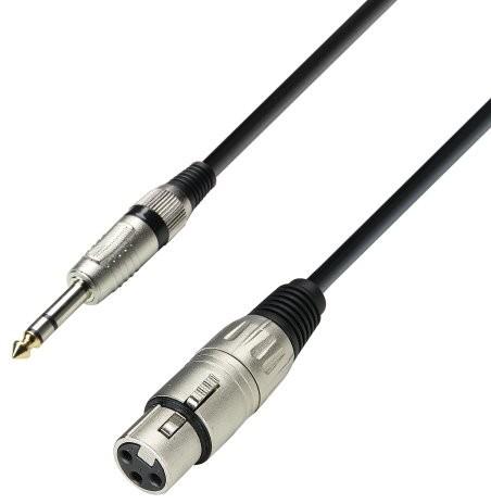 Adam Hall Cables ah Cables K3 BFV kabel mikrofonowy, na końcach gniazdo XLR i wtyczka jack 6,3 mm stereo K3BFV1000