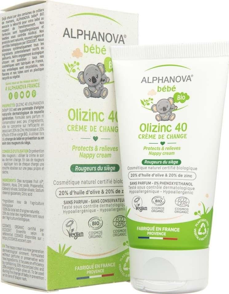 Alphanova BEBE BEBE Bebe Krem przeciw odparzeniom Olizinc 40 50 g ALP02070