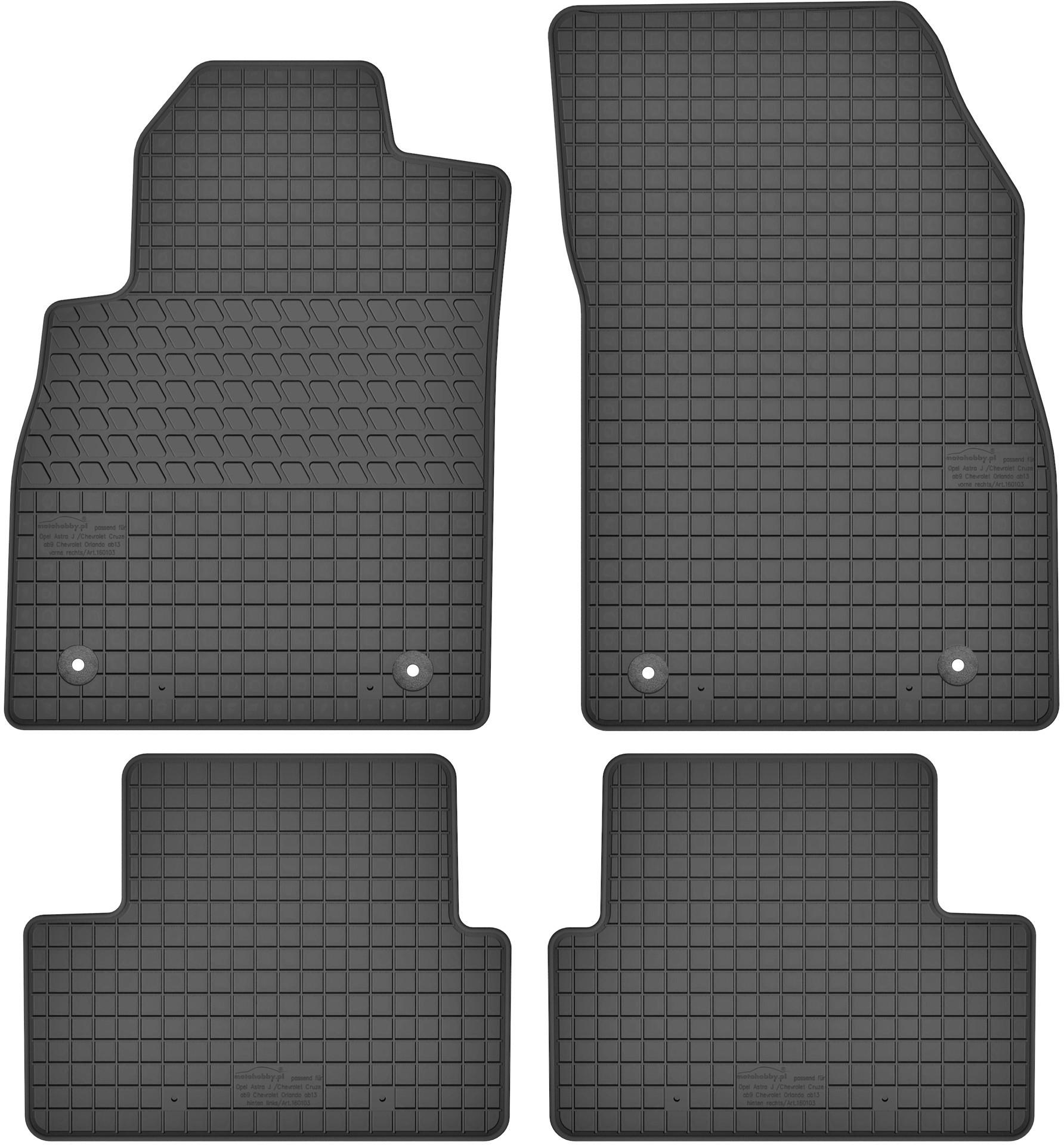 MotoHobby Opel Astra J (2009-2016) - dywaniki gumowe dedykowane ze stoperami