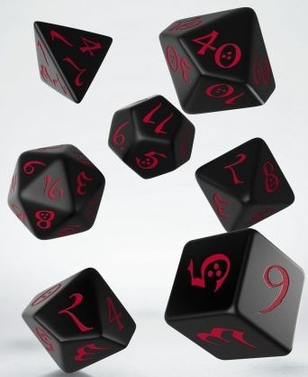 Q-Workshop Komplet klasyczny Czarno-czerwony