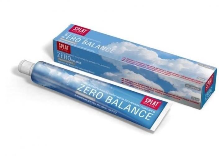 Splat Special Zero Balance Toothpaste przeciwpróchnicza pasta do zębów bez aromatyzerów 0% Aroma 75ml