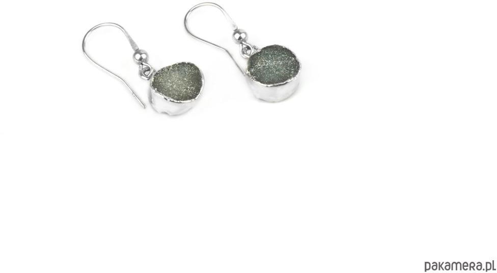 Earrings Druzy Agatu Szare srebro