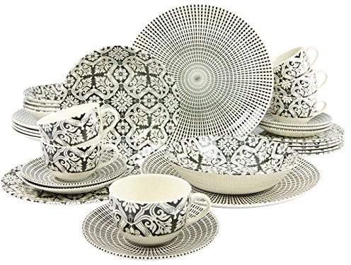 Creatable 19926 serwis łączony 30-częściowy, porcelana, wielobarwny, 40 x 33 x 33 cm, 30 jednostek 19926