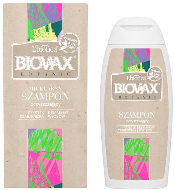 Lbiotica Biovax Botanic micelarny szampon oczyszczający czystek i czarnuszka 200 ml