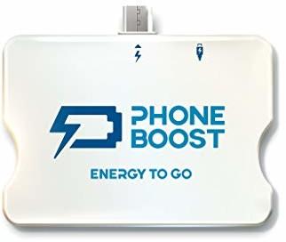 Phoneboost Phoneboost Mini Powerbank 1500 mAh z możliwością ponownego ładowania (mały, lekki, kompaktowy, ze zintegrowanym łącznikiem, idealny w podróży) (1 sztuka, Micro USB), 20199 PB-3.0
