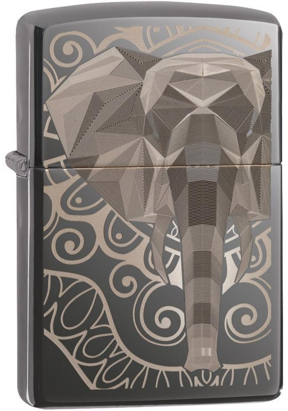 Zippo 49074 Elephant Fancy Fill Desig Black Ice zapalniczka 191693132328