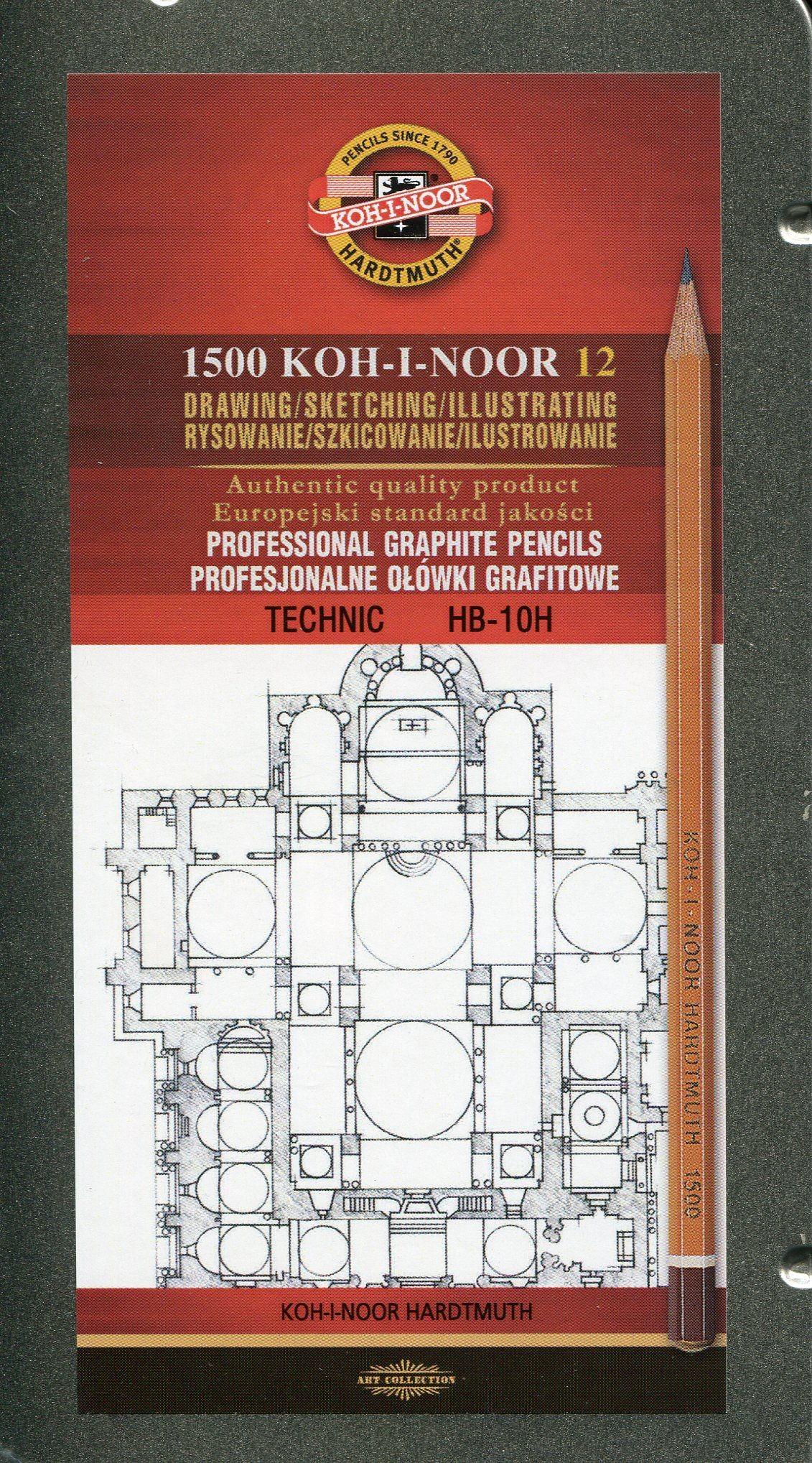 Koh-I-Noor Koh-I-Noor Ołówek grafitowy 1500/10H 12 szt