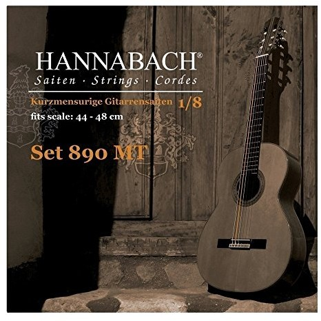 Hannabach 8903W MT 1/8dzieci gitara G-3(umsp.) Menzura 4448cm