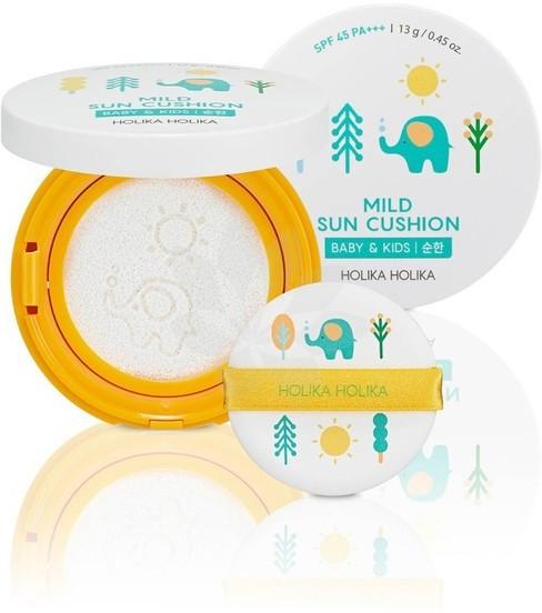 Holika Mild Sun Cushion Baby & Kids SPF45 kompaktowy krem przeciwsłoneczny w poduszeczce 15g