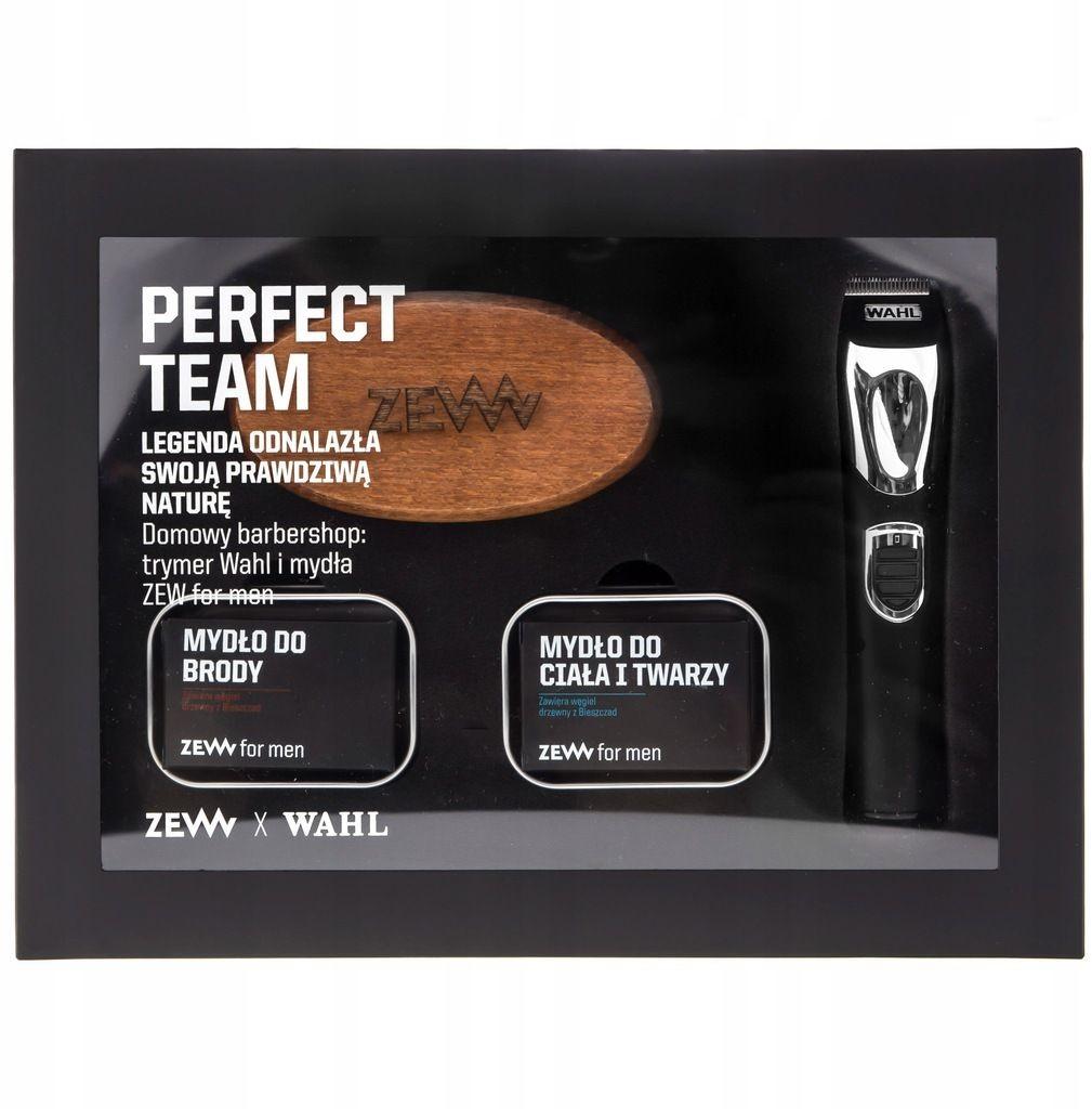 Zew for men zestaw X Trymer trymer do włosów + mydło do brody 85ml + mydło do twarzy i ciała 85ml + kartacz do brody