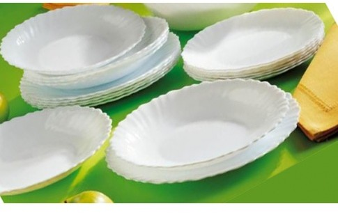 Luminarc Serwis obiadowy Feston 18 elem biały