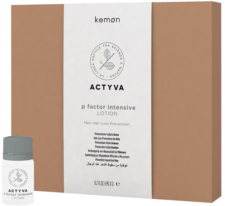 Kemon P FACTOR LOTION Uomo Kuracja zapobiegająca wypadaniu włosów dla mężczyzn, 12x6ml