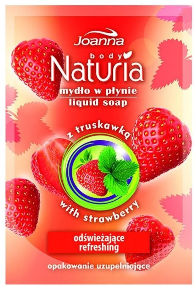 Joanna Naturia Body Liquid Soap mydło w płynie Truskawka zapas 300ml 69607-uniw