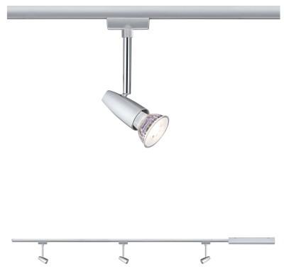Paulmann Zestaw szynowy startowy STARTER SET BARELLI LED GU10 chrom mat 95459 95459