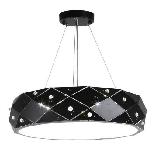 Candellux Lighting czarna lampa wisząca GLANCE 31-59192 nowoczesny żyrandol do pokoju G9 regulowana wysokość