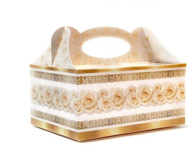 Dekoracjepolska Pudełko na ciasto weselne 1 sztuka PUDZ PUDZ