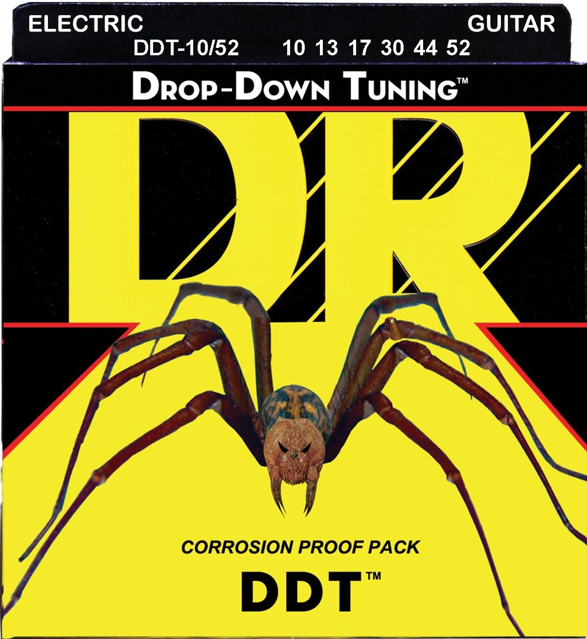 DR Strings DROP-DOWN TUNING - DDT-10/52 - struny do gitary elektrycznej Set, Big Heavy, .010-.052