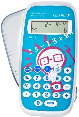 Genie BT11 elektroniczne urządzenie do nauki matematyki, 300 000 zadań, kalkulator kieszonkowy, z nakładką zabezpieczającą 12084