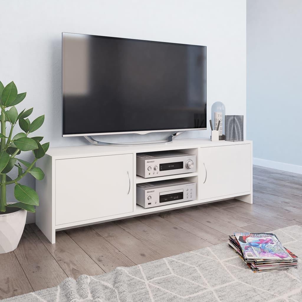 vidaXL vidaXL Szafka pod TV, biała, 120 x 30 x 37,5 cm, płyta wiórowa