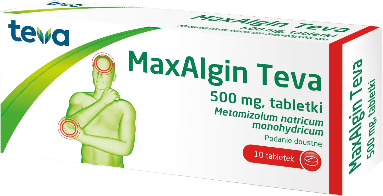 Teva Maxalgin 0,5 g, 10 tabletek  3631025