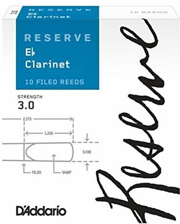 Rico D'Addario DBR1030 siła 3.0 Reerve Eb Clarinet Reeds, zestaw 10 sztuk DBR1030