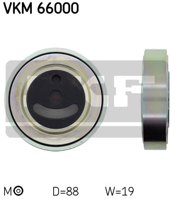 SKF Rolka napinacza, pasek klinowy wielorowkowy VKM 66000