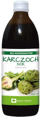 Alter Medica KARCZOCH SOK sok z liści karczocha z witaminą C 500 ml