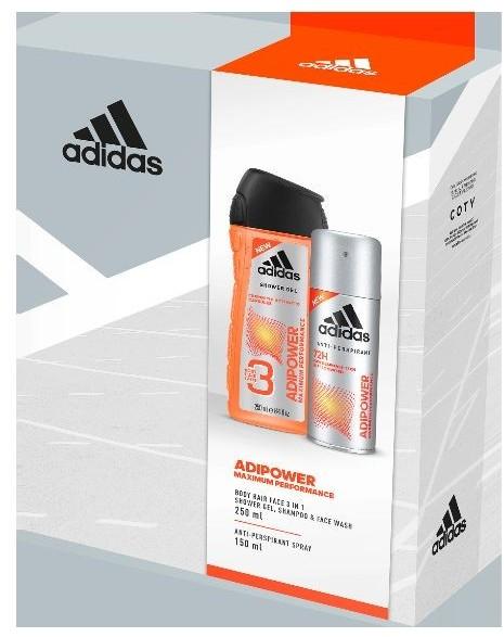 Adidas ZESTAW MĘSKI ADIPOWER DEZODORANT W SPRAYU 150ML + ŻEL POD PRYSZNIC 250ML