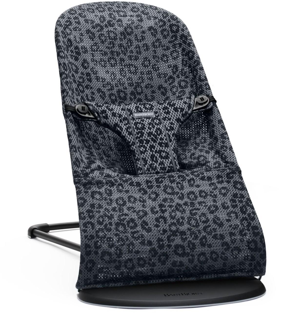 BABYBJORN leżaczek BLISS MESH - Antracytowy/Leopard scandinavian-baby-9381-0