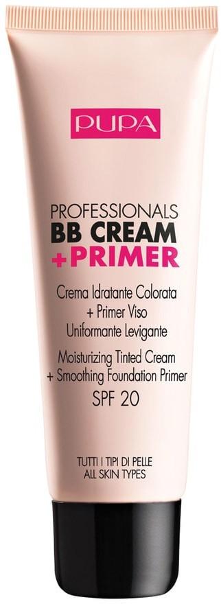 Pupa BB Cream + Primer Oil/Combination Skin krem BB z bazą pod makijaż 002 Sand 50ml