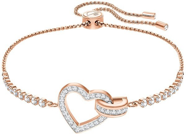 Swarovski Lovely Bracelet, White, Rose gold plating White Rose gold-plated