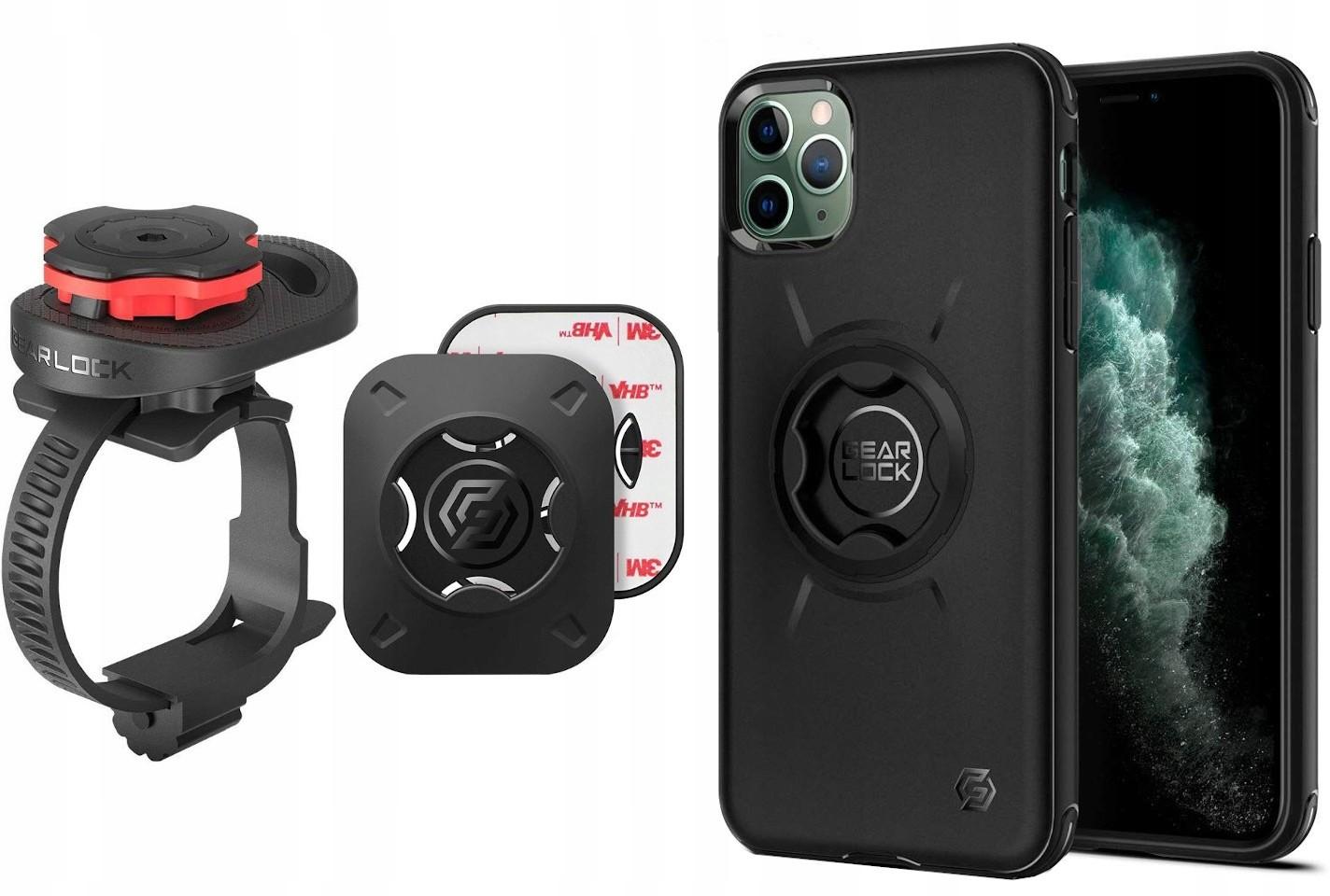 SPIGEN Uchwyt rowerowy GEARLOCK MS100 + Etui Apple iPhone 11 Pro
