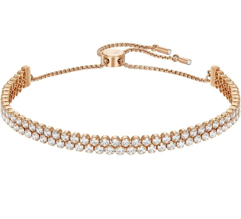 Swarovski Subtle Bracelet White Rose gold-plated
