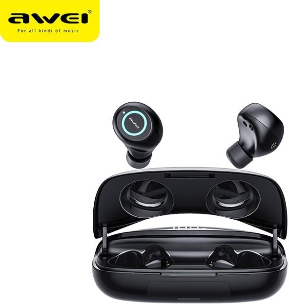 Awei T19 słuchawki bezprzewodowe wodoodporne prawdziwe bezprzewodowe wkładki douszne TWS Bass