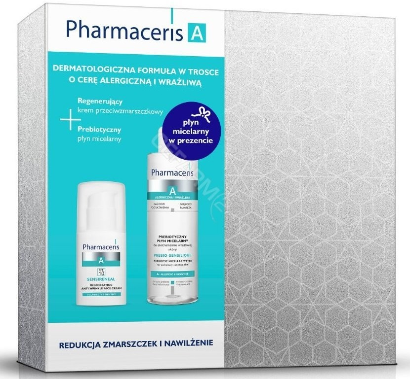 Dr Irena Eris Pharmaceris A promocyjny zestaw sensireneal regenerujący krem przeciwzmarszczkowy 50 ml + sensilique prebiotyczny płyn micelarny do ekstremalnie wrażliwej skóry 200 ml GRATIS !   DARMOWA DOSTAWA O