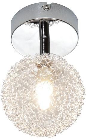 Reality Leuchten Reality lampy lampa halogenowa punktowa chrom, szkło z drut aluminiowy oplot, 1X G9, 28W, Eco źródło światła w komplecie, średnica: 9cm r81321106 R81321106