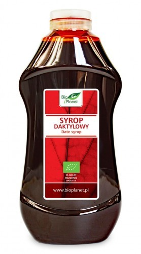 Bio Planet seria CZERWONA (cukry, syropy) SYROP DAKTYLOWY BIO 874 ml (1215 g) - BP-5902488066026